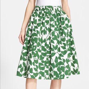 Kate Spade New York 'garden leaves' flare skirt